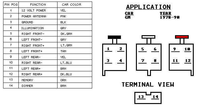 Chevy_Car_Stereo_Wiring_1978_ _1990 2005 gmc speaker wiring wiring diagram data